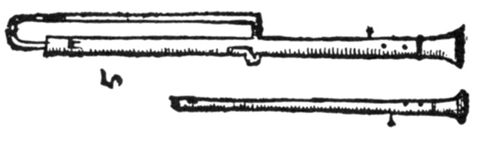 Praetorius 3 hole pipes .25 Scale 96 ppi horz